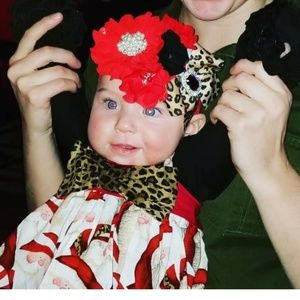Santa & leopard print dress only